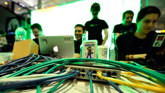Participants at a hacking conference.